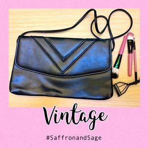 Vintage Navy Clutch/Crossbody Purse/Handbag